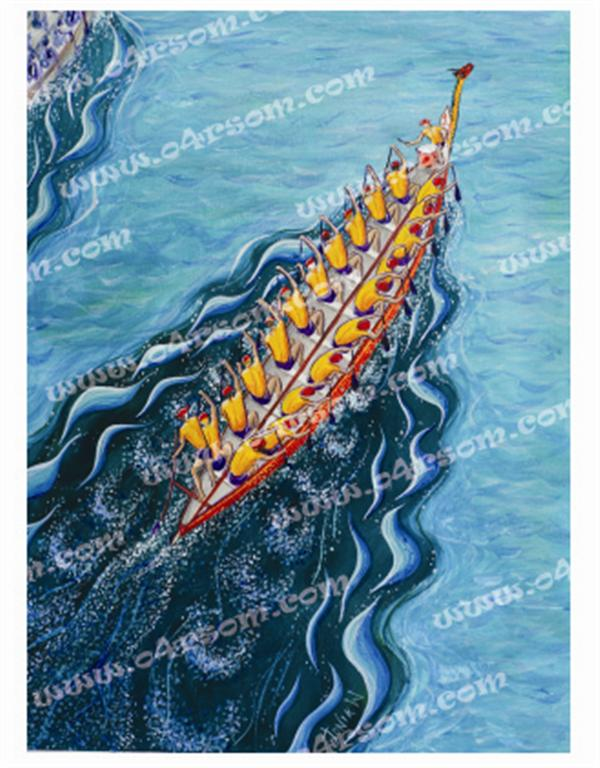 Traditional Dragonboat: similar to dragonboat Racing, but traditional stern. o4rsom dragon boat art.